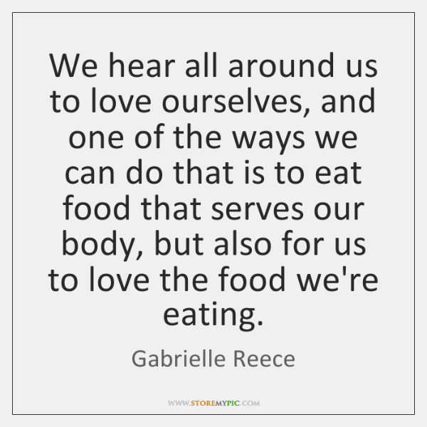 We hear all around us to love ourselves, and one of the ...