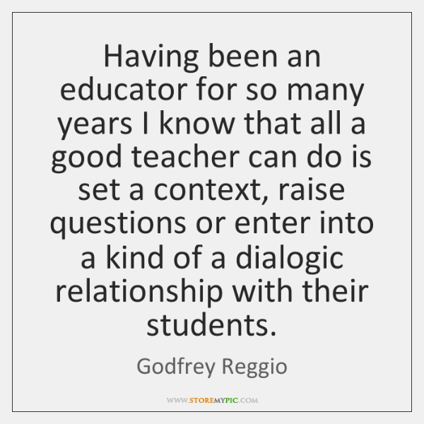 Having been an educator for so many years I know that all ...