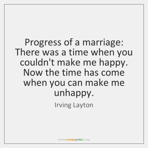 Progress of a marriage: There was a time when you couldn't make ...