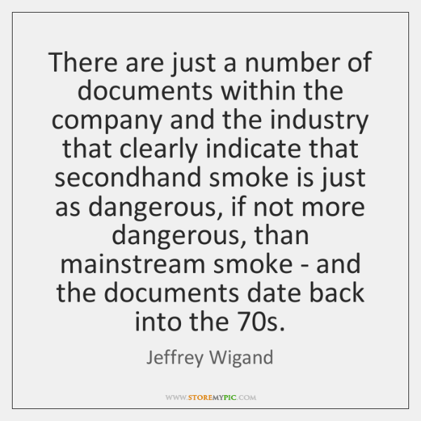 There are just a number of documents within the company and the ...