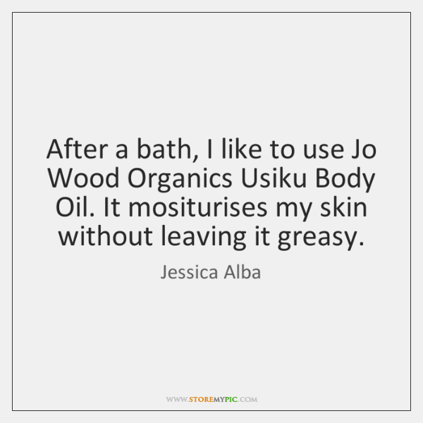 After a bath, I like to use Jo Wood Organics Usiku Body ...