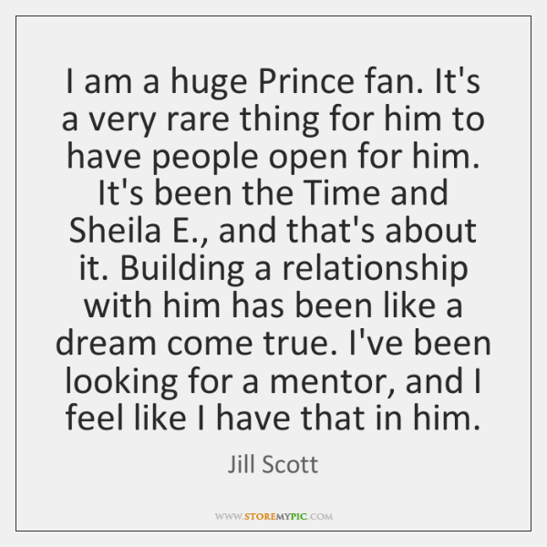 I am a huge Prince fan. It's a very rare thing for ...