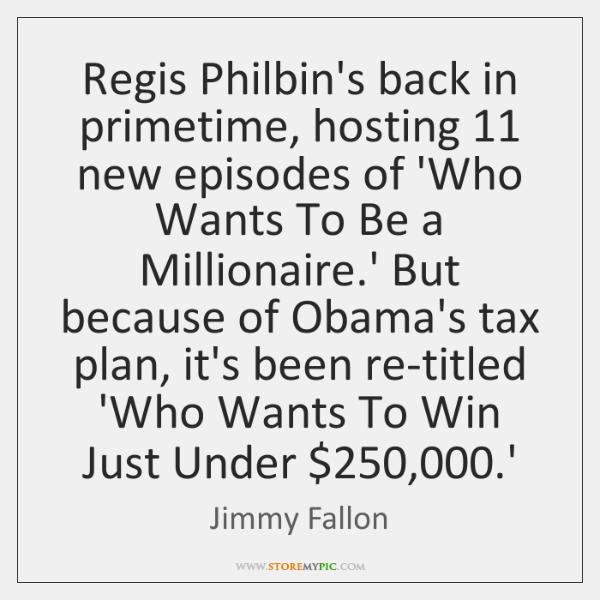 Regis Philbin's back in primetime, hosting 11 new episodes of 'Who Wants To ...