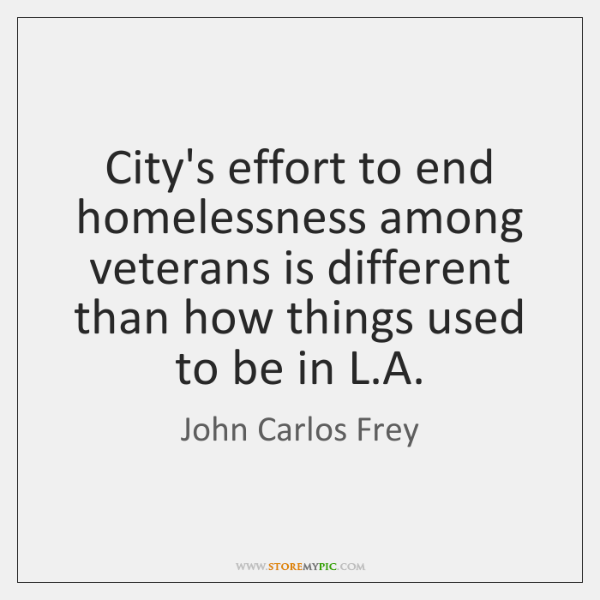 City's effort to end homelessness among veterans is different than how things ...