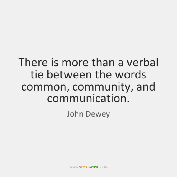 There is more than a verbal tie between the words common, community, ...