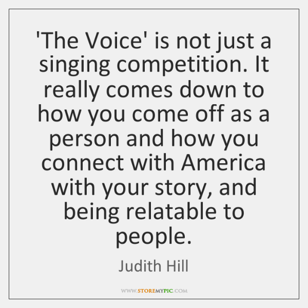 'The Voice' is not just a singing competition. It really comes down ...