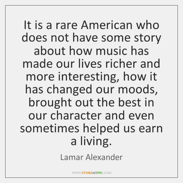 It is a rare American who does not have some story about ...
