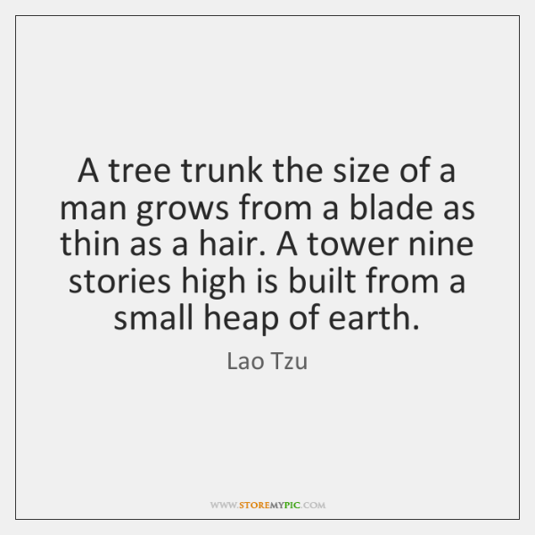 A tree trunk the size of a man grows from a blade ...