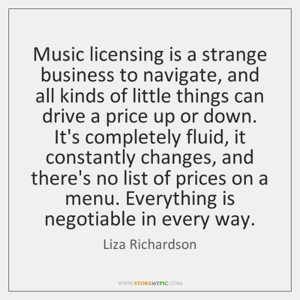 Music licensing is a strange business to navigate, and all kinds of ...