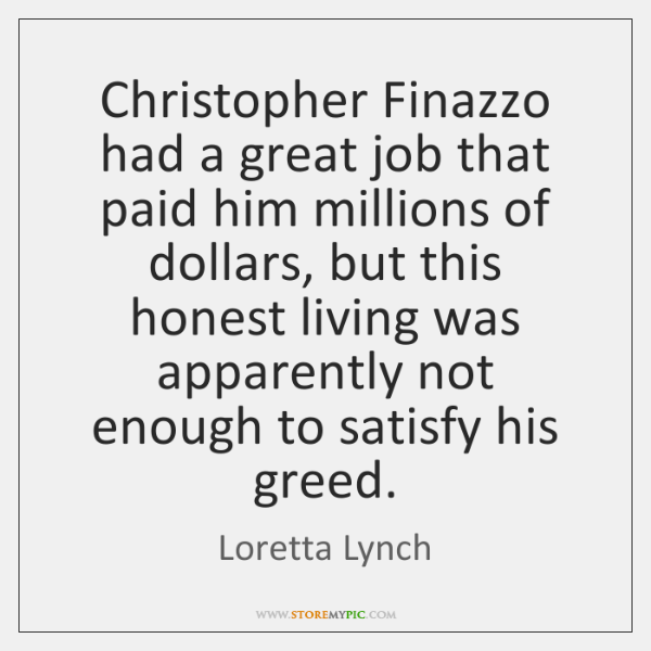 Christopher Finazzo had a great job that paid him millions of dollars, ...