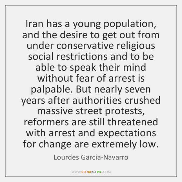 Iran has a young population, and the desire to get out from ...