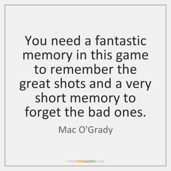 You need a fantastic memory in this game to remember the great ...