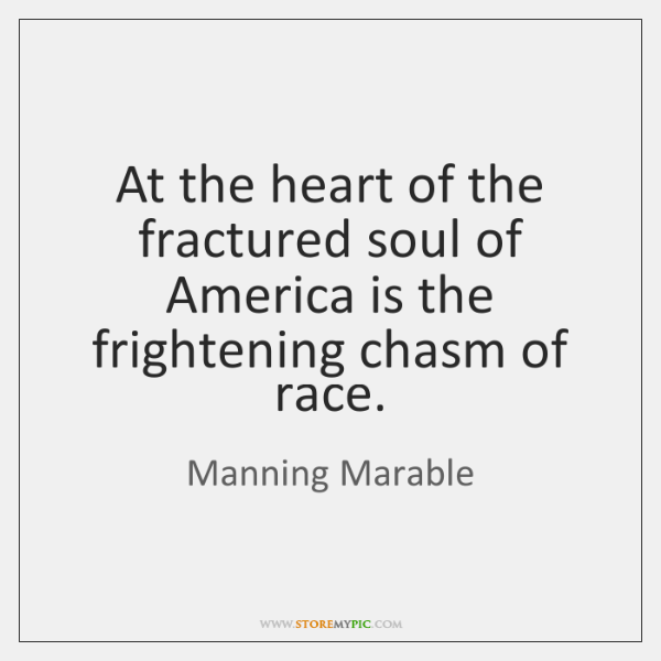 At the heart of the fractured soul of America is the frightening ...