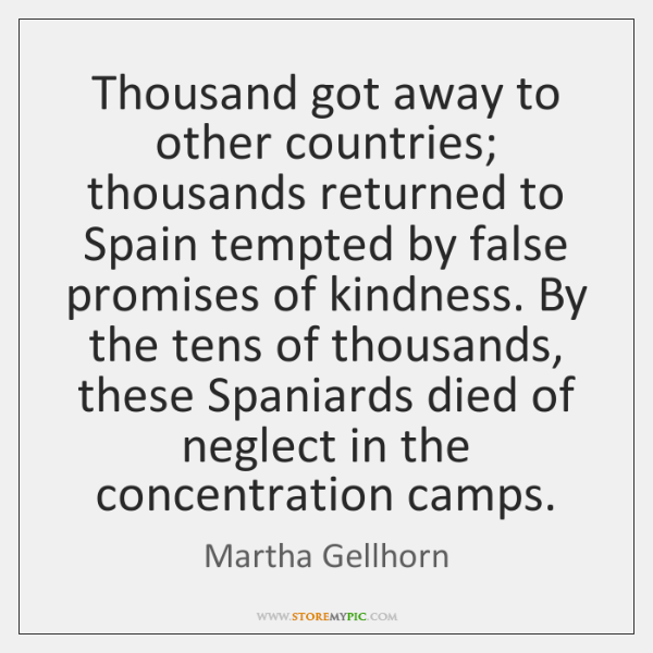 Thousand got away to other countries; thousands returned to Spain tempted by ...