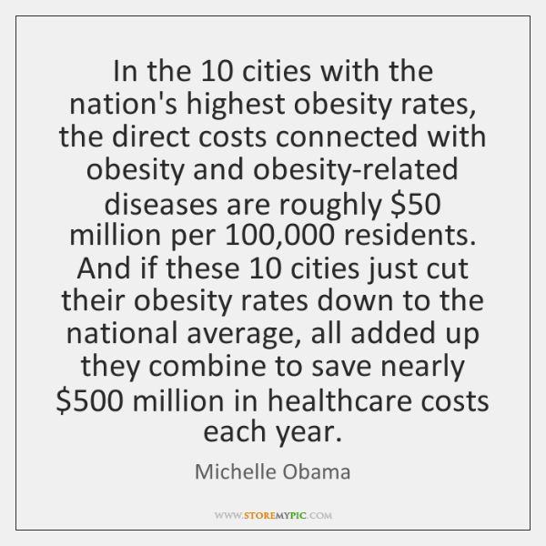 In the 10 cities with the nation's highest obesity rates, the direct costs ...