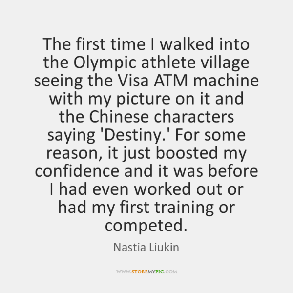 The first time I walked into the Olympic athlete village seeing the ...