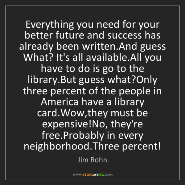 Jim Rohn: Everything you need for your better future and success...