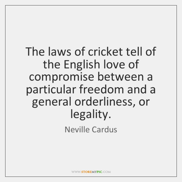 The laws of cricket tell of the English love of compromise between ...