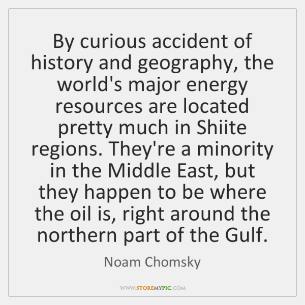 By curious accident of history and geography, the world's major energy resources ...