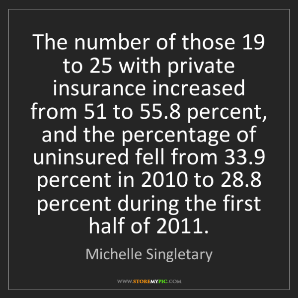 Michelle Singletary: The number of those 19 to 25 with private insurance increased...