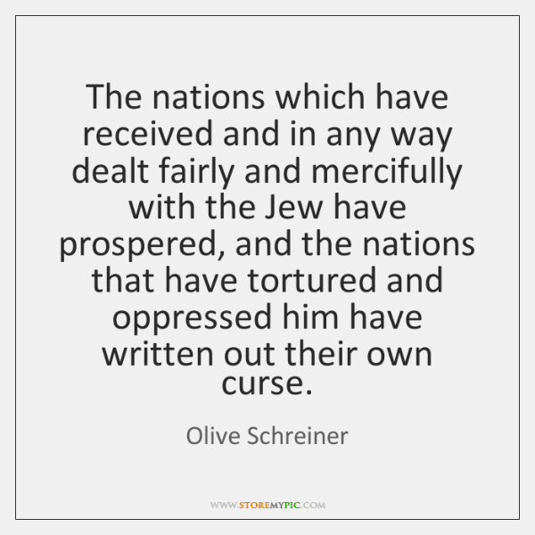 The nations which have received and in any way dealt fairly and ...