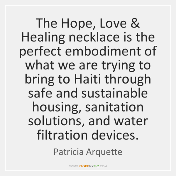 The Hope, Love & Healing necklace is the perfect embodiment of what we ...