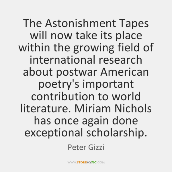 The Astonishment Tapes will now take its place within the growing field ...
