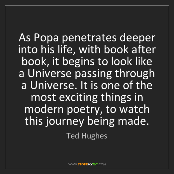 Ted Hughes: As Popa penetrates deeper into his life, with book after...