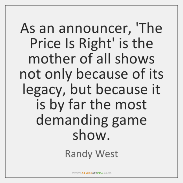 As an announcer, 'The Price Is Right' is the mother of all ...