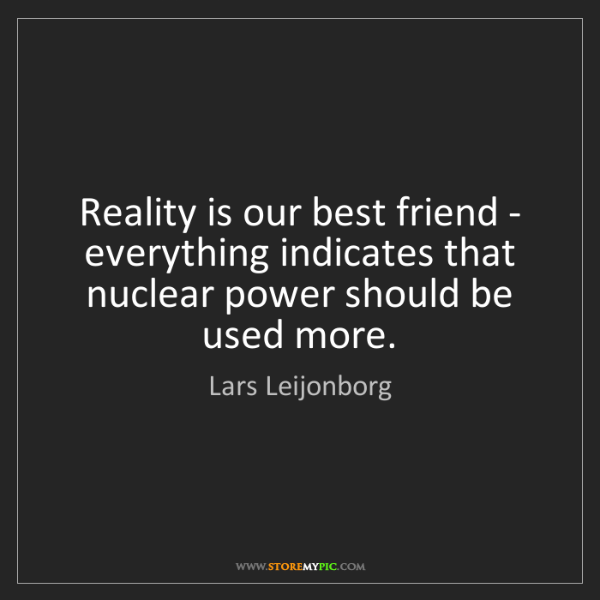Lars Leijonborg: Reality is our best friend - everything indicates that...