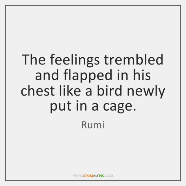 The feelings trembled and flapped in his chest like a bird newly ...