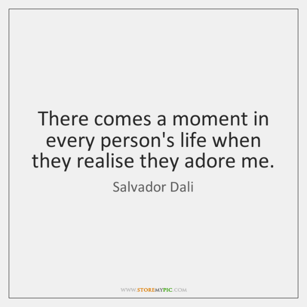 There comes a moment in every person's life when they realise they ...