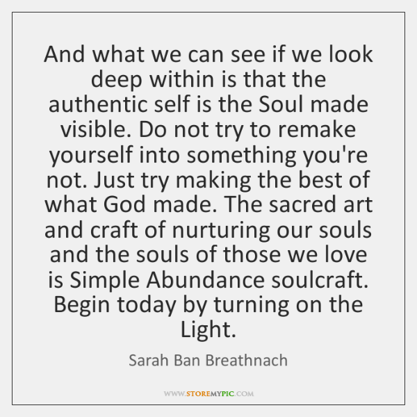 And what we can see if we look deep within is that ...