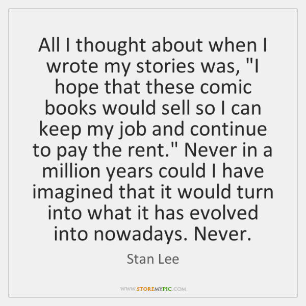 """All I thought about when I wrote my stories was, """"I hope ..."""