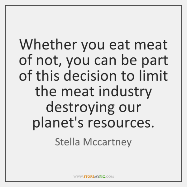 Whether you eat meat of not, you can be part of this ...
