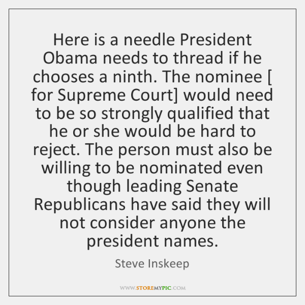 Here is a needle President Obama needs to thread if he chooses ...
