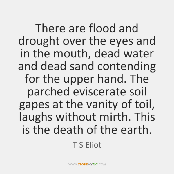 There are flood and drought over the eyes and in the mouth, ...