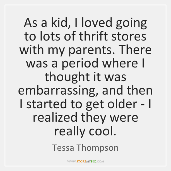 As a kid, I loved going to lots of thrift stores with ...