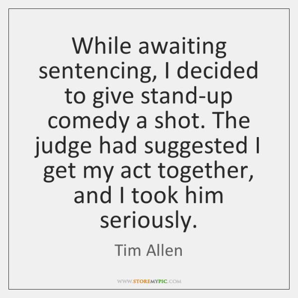 While awaiting sentencing, I decided to give stand-up comedy a shot. The ...