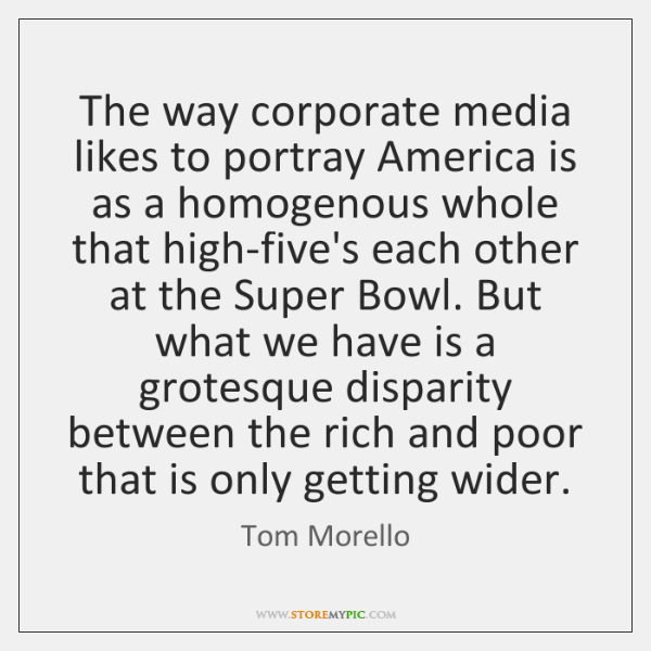 The way corporate media likes to portray America is as a homogenous ...