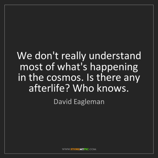 David Eagleman: We don't really understand most of what's happening in...