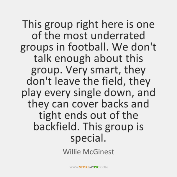 This group right here is one of the most underrated groups in ...