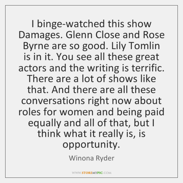 I binge-watched this show Damages. Glenn Close and Rose Byrne are so ...