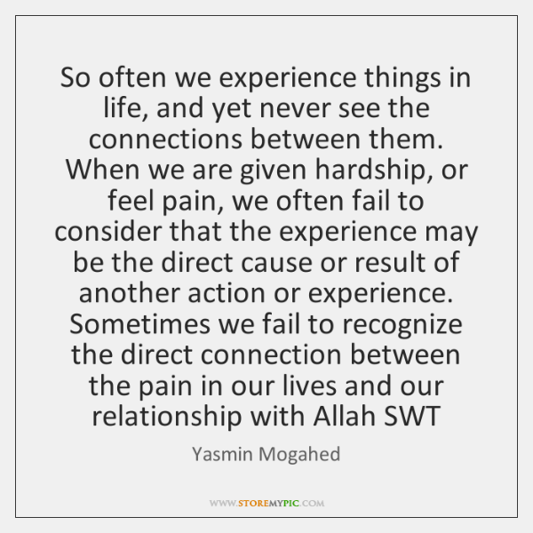 So often we experience things in life, and yet never see the ...
