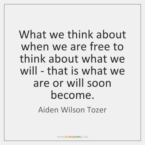 What we think about when we are free to think about what ...
