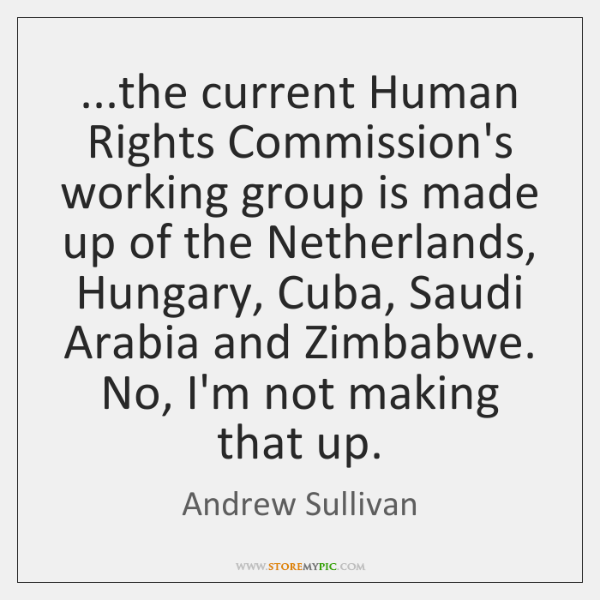 ...the current Human Rights Commission's working group is made up of the ...