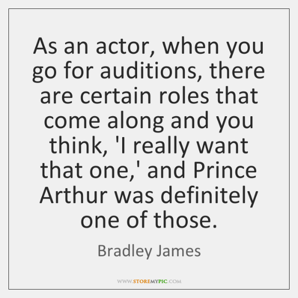 As an actor, when you go for auditions, there are certain roles ...