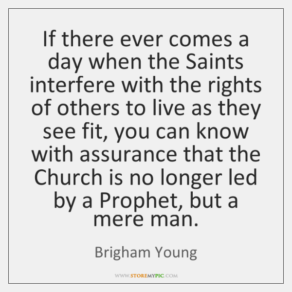 If there ever comes a day when the Saints interfere with the ...