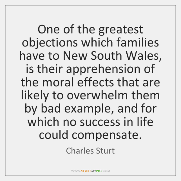 One of the greatest objections which families have to New South Wales, ...