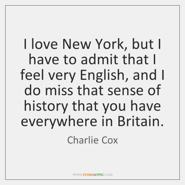 I love New York, but I have to admit that I feel ...